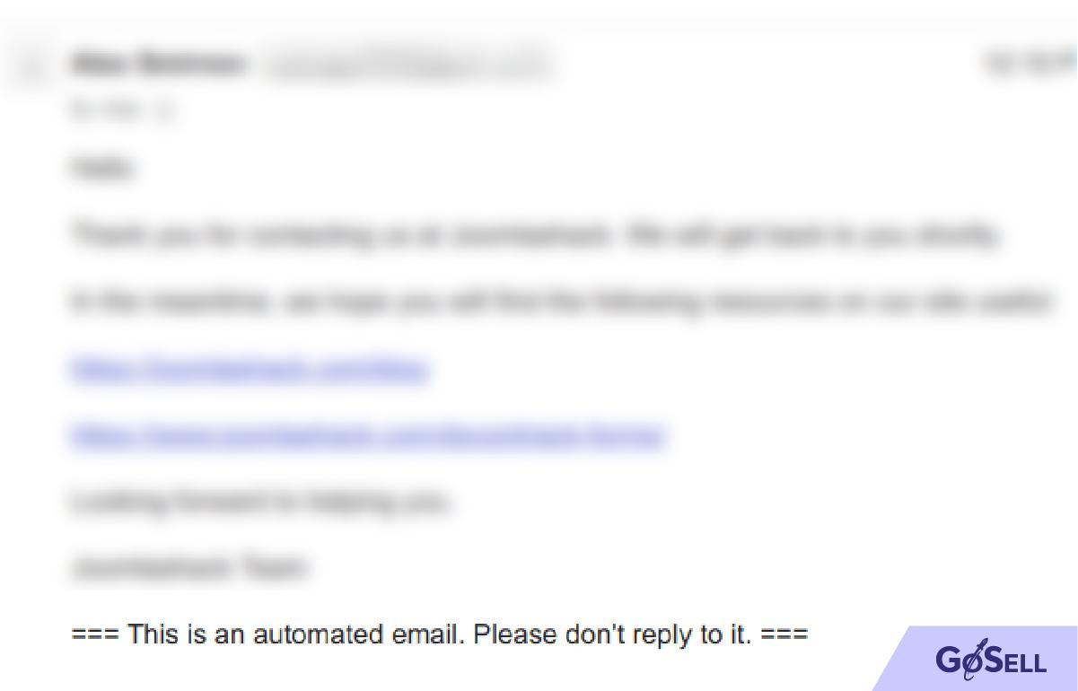 Không cho phép người đọc trả lời lại email marketing