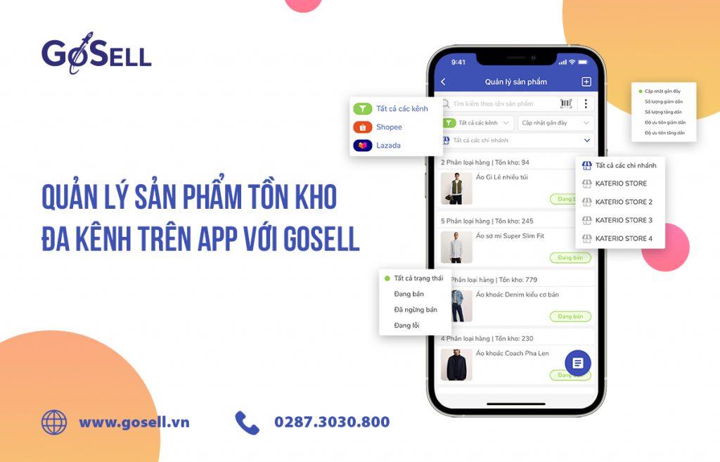 Quản lý sản phẩm tồn kho đa kênh trên app với GoSELL