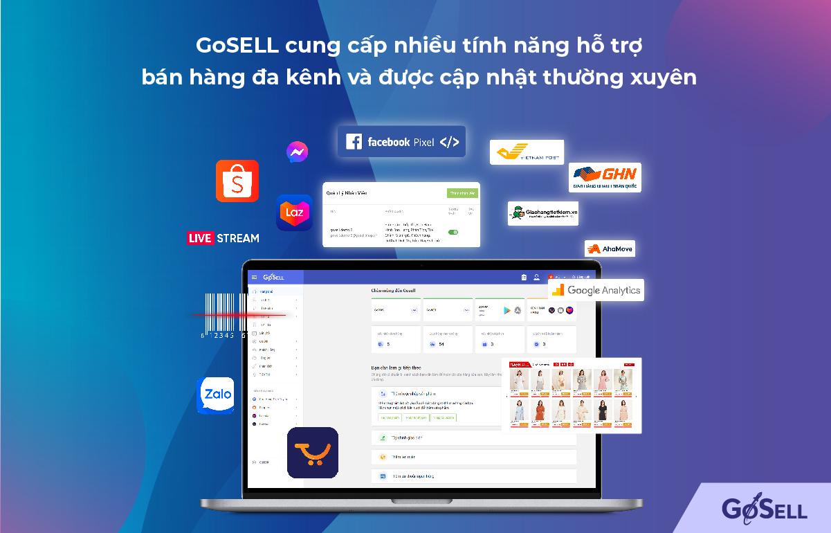 Bán hàng đa kênh dễ dàng với GoSELL