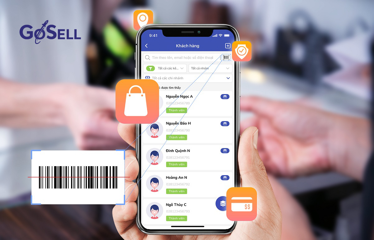 Tạo barcode cho từng khách hàng riêng biệt