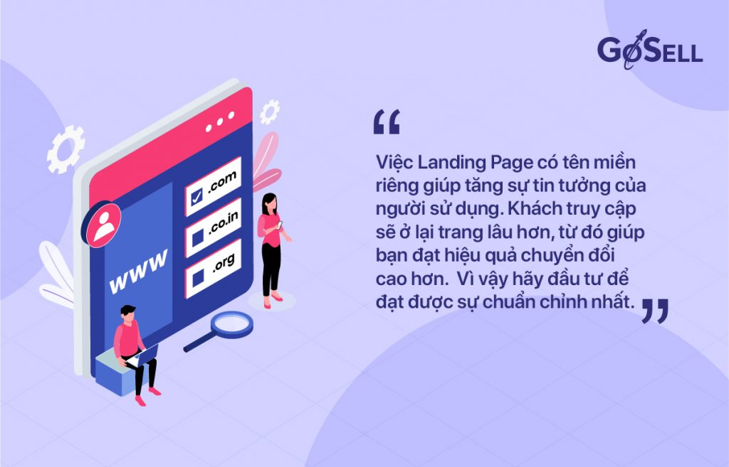 Tối ưu tên miền Landing Page