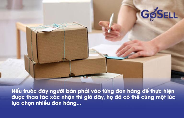 Xác nhận đơn hàng GoSELL