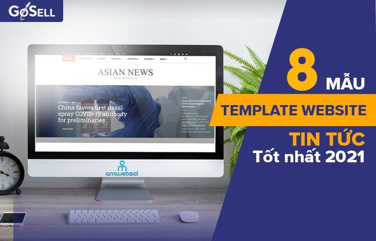 8 mẫu template website tin tức
