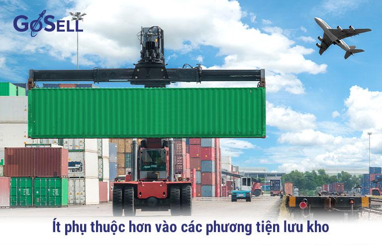 Xuất khẩu hàng hóa ít phụ thuộc vào đơn vị lưu kho