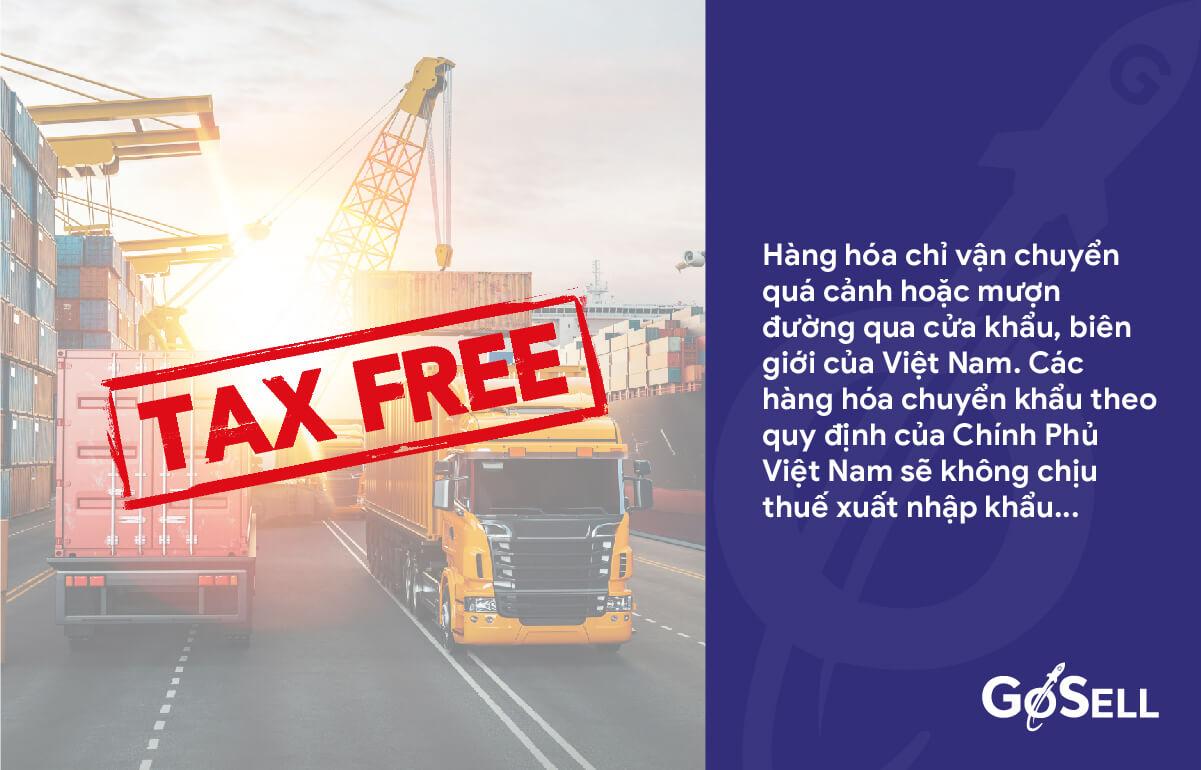 Các trường hợp không chịu thuế xuất nhập khẩu