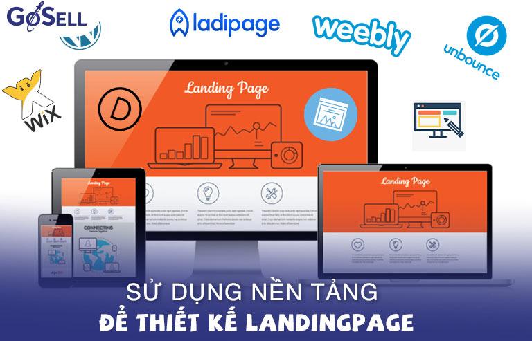 Sử dụng nền tảng thiết kế landing page