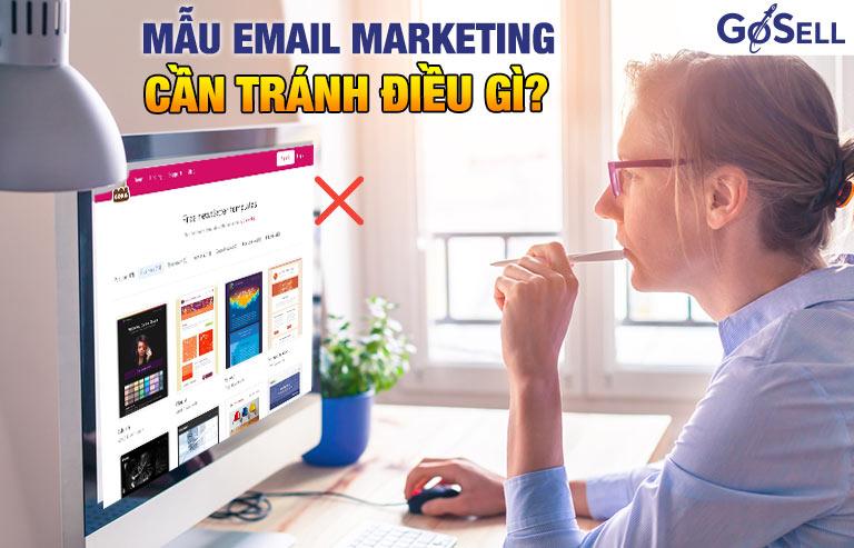 Mẫu email marketing cần tránh điều gì?