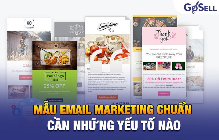 Mẫu email marketing chuẩn cần có những yếu tố nào?