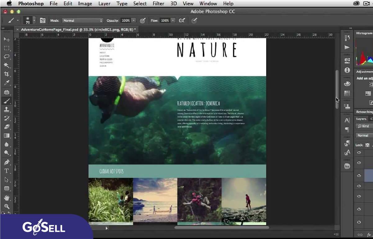 Thiết kế website bằng Adobe Photoshop