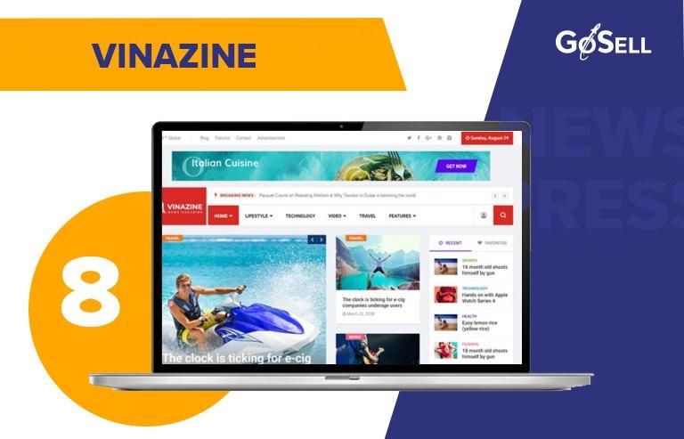 Template website tin tức Vinazine