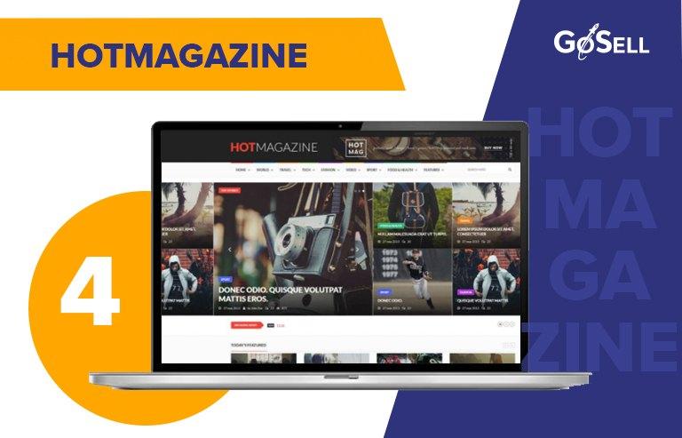 Template website tin tức HotMagazine