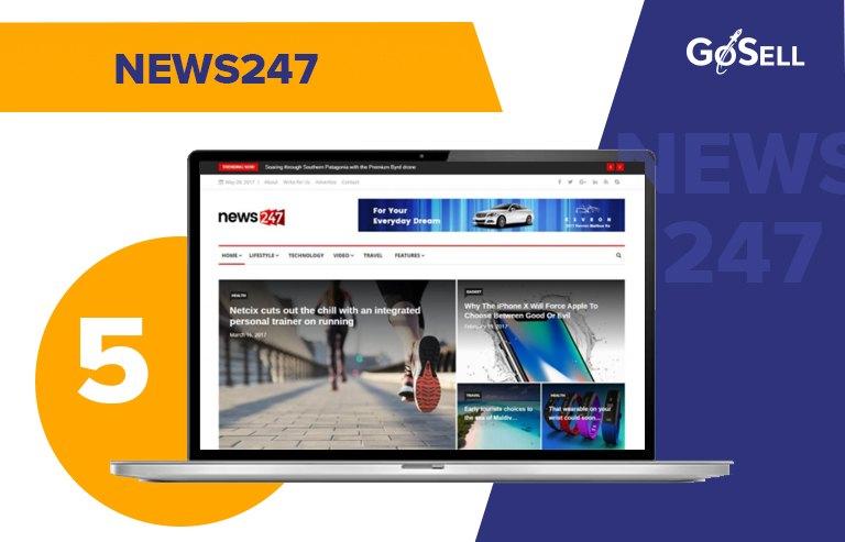 Template website tin tức News247