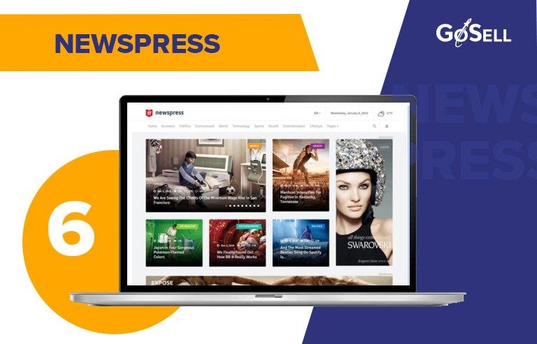 Template website tin tức NewsPress