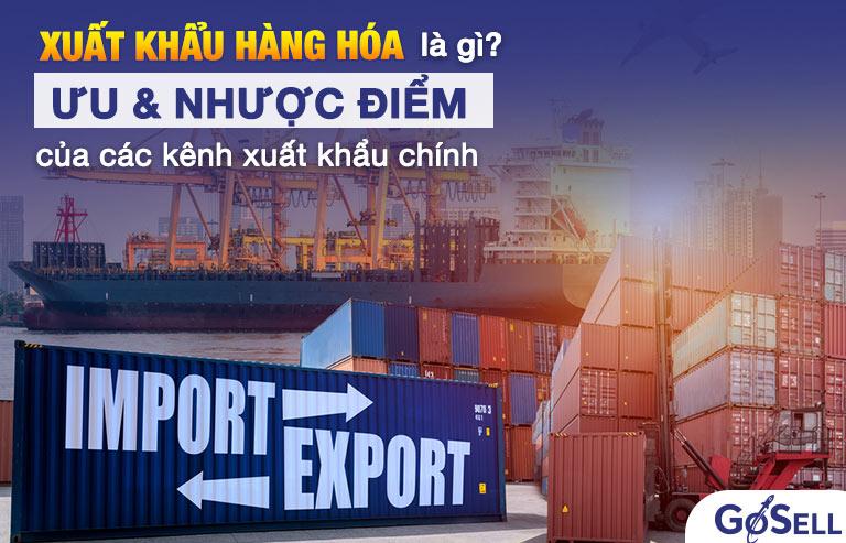 Xuất khẩu hàng hóa là gì? Ưu nhược điểm của các kênh xuất khẩu chính