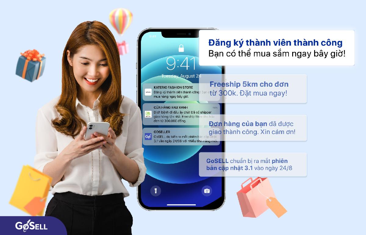 Gửi thông báo tự động khi khách hàng đăng ký thành công