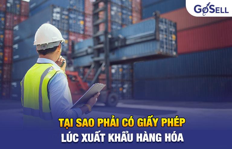 Tại sao phải có giấy phép xuất khẩu hàng hóa?