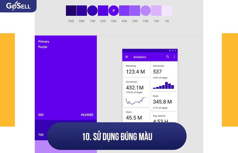 Sử dụng đúng màu khi thiết kế mobile app