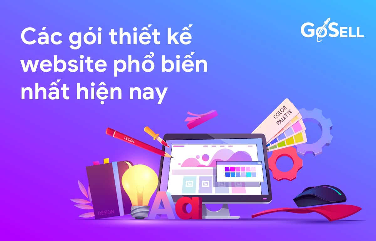 Các gói thiết kế website phổ biến nhất hiện nay