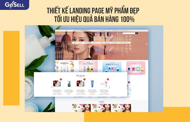 Thiết kế landing page Mỹ phẩm đẹp và tăng hiệu quả bán hàng