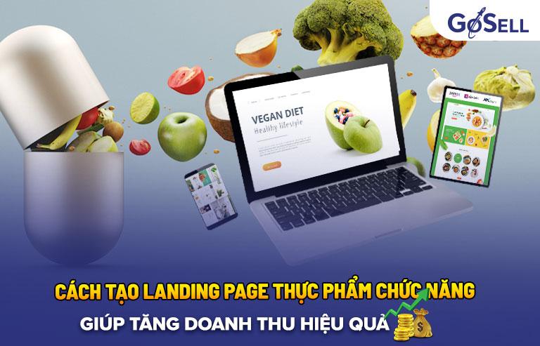 Cách tạo landing page thực phẩm chức năng