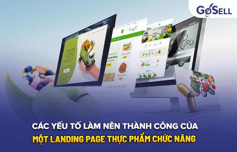 Các yếu tố landing page thực phẩm chức năng hiệu quả