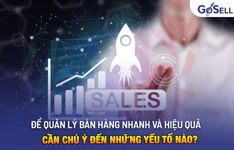 Quản lý bán hàng nhanh