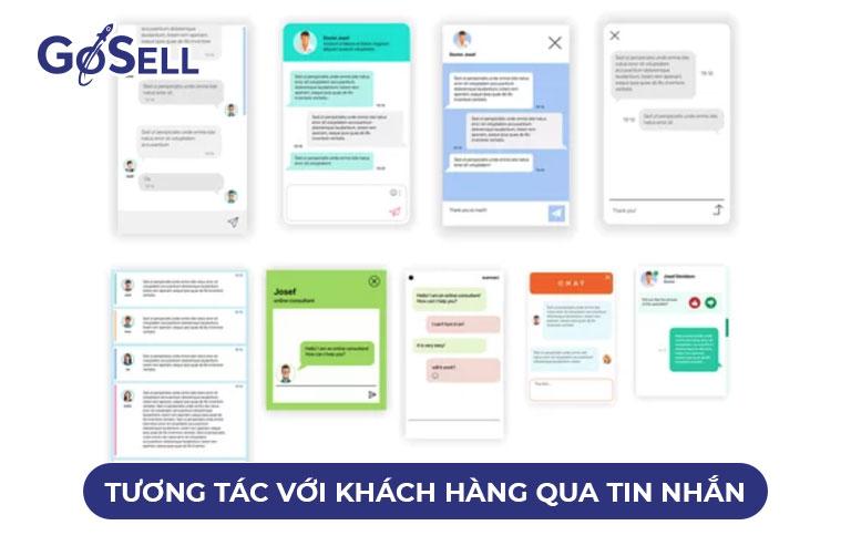 Tương tác với khách hàng qua tin nhắn