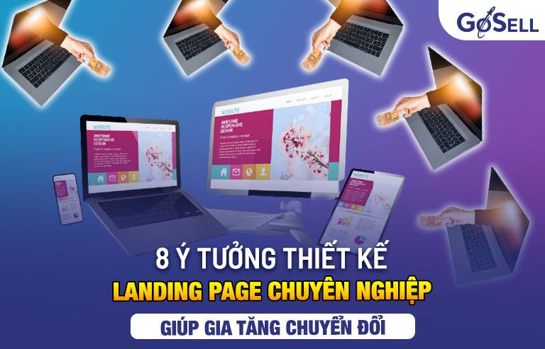 ý tưởng thiết kế landing page