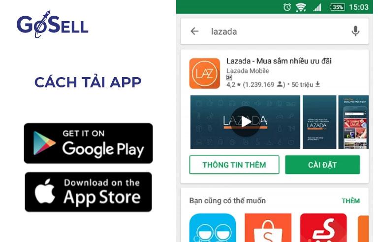 App bán hàng Lazada 2