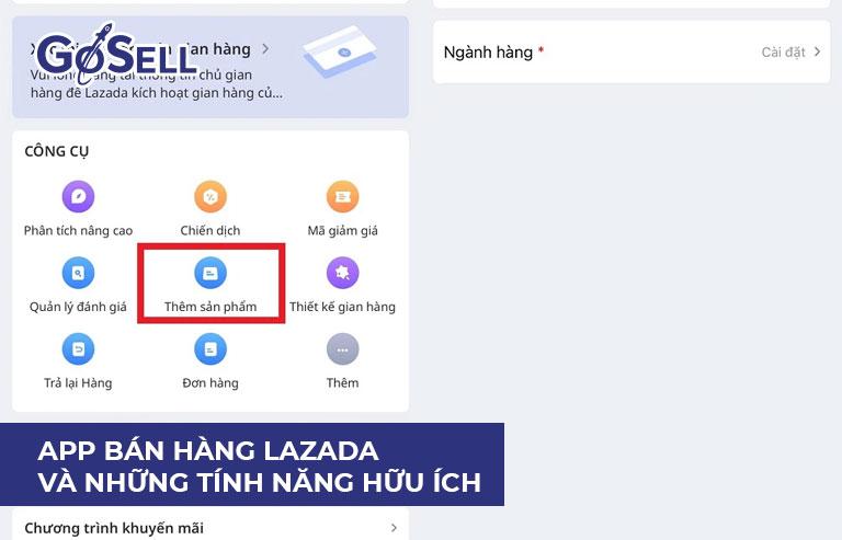 App bán hàng Lazada 6